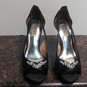 Badgley Mischka Black Stiletto Heels Size 9 B